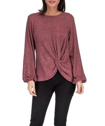 Bobeau B Collection By  Sierra Twist Waist Top In Canyon Rose