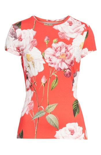 cf87a2c3584af Ted Baker Daleyza Iguazu Fitted Tee In Mid Red
