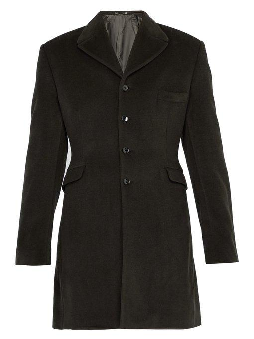 Gmbh Nadym Tailored Cashmere Coat In Grey