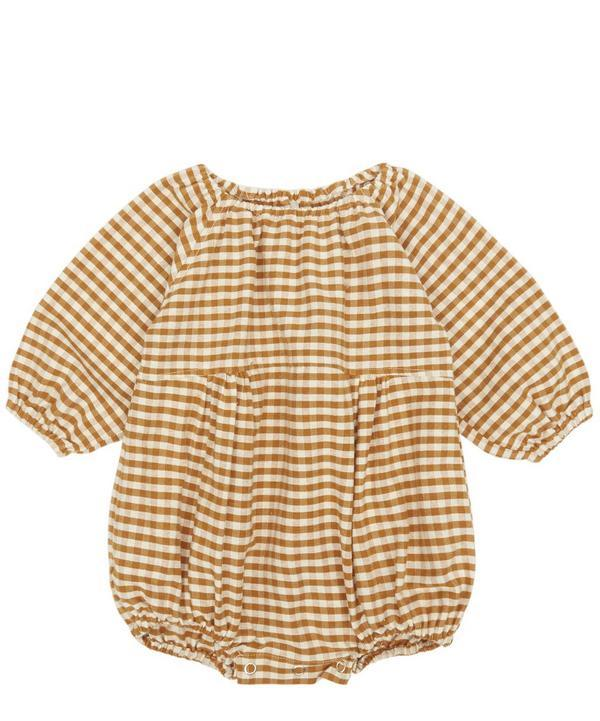 f3fc0562bfdc Rylee + Cru Gingham Bubble Romper 3 Months-3 Years In Brown