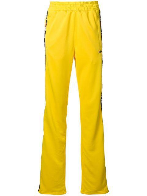 e1eb86afd506 Fila Logo Stripe Track Pants In Yellow | ModeSens