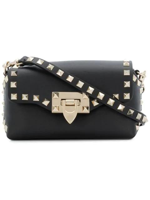 85581cf84 Valentino Rockstud Mini Leather Crossbody Bag - Black In 0No Nero ...