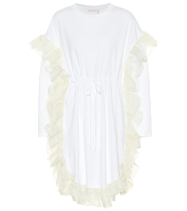 a1f5de762f See By ChloÉ See By Chloe White Ruffle Jersey Dress