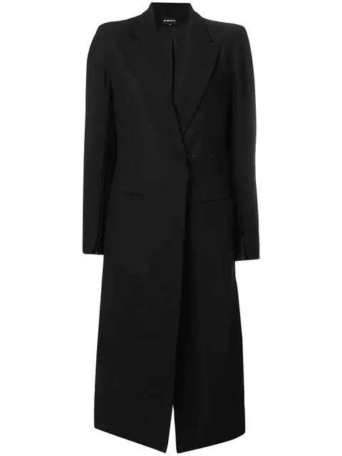 Ann Demeulemeester Single Breasted Coat In Black