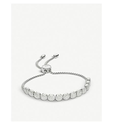 Monica Vinader Fiji Mini Button Sterling Silver And Diamond Friendship Chain Bracelet