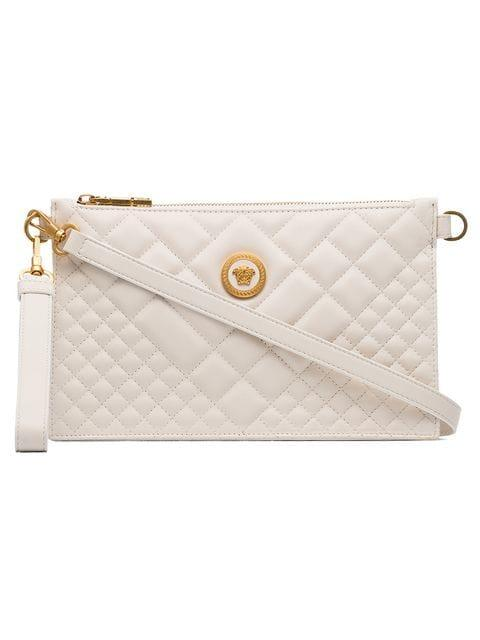 f662f8ed8647 Versace Nude Medusa Quilted Leather Clutch Bag - Neutrals In Nude   Neutrals
