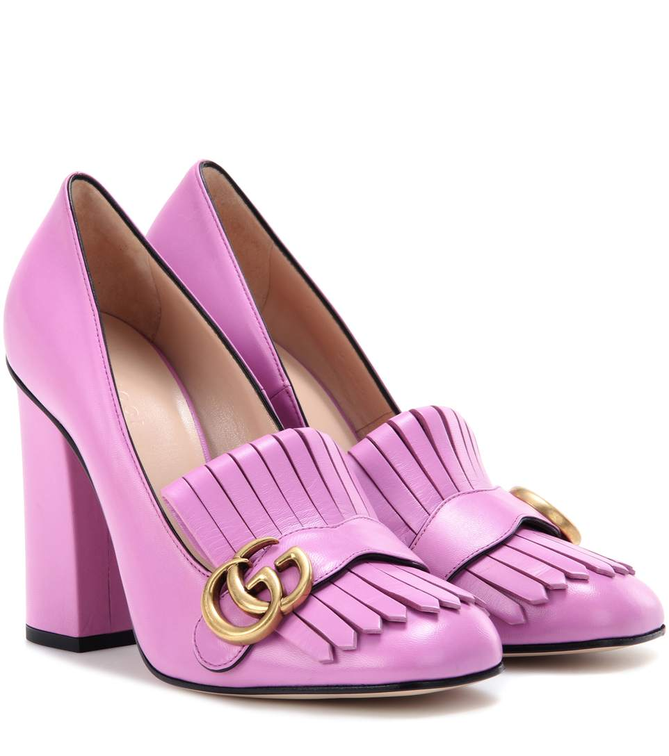 92af3f55e73 Gucci Leather Loafer Pumps In Purple