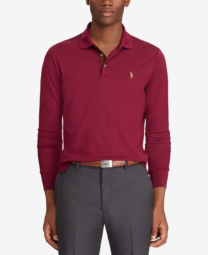 b6c9094aa6 Polo Ralph Lauren Men s Classic-Fit Long Sleeve Soft-Touch Polo In Classic  Wine