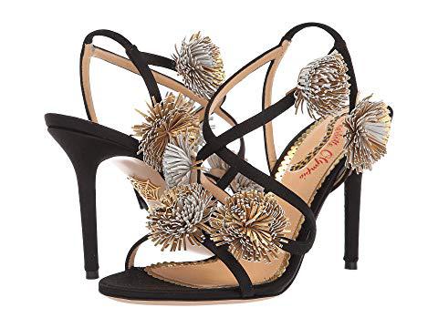 Charlotte Olympia Women's Embellished Satin Slingback High-Heel Sandals In Black