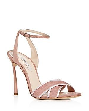 Casadei Women's Yoko Velvet & Suede High-heel Sandals In Black