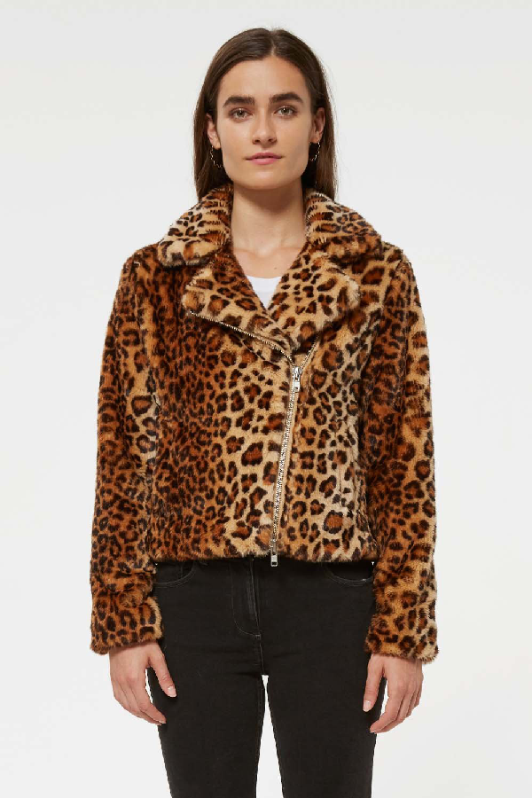 ec0d6caf2 Hudson Leopard Faux Calf Hair Jacket in Leopard Multi