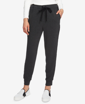1.state Cozy Knit High Waist Jogger Pants In Dark Heather Grey