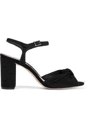 164ac2d24 Schutz Woman Lia Knotted Suede Sandals Black