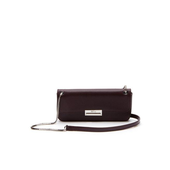 53752db74d1 Lacoste Women's Chantaco Christmas PiquÉ Leather Flap Shoulder Bag In  Winetasting