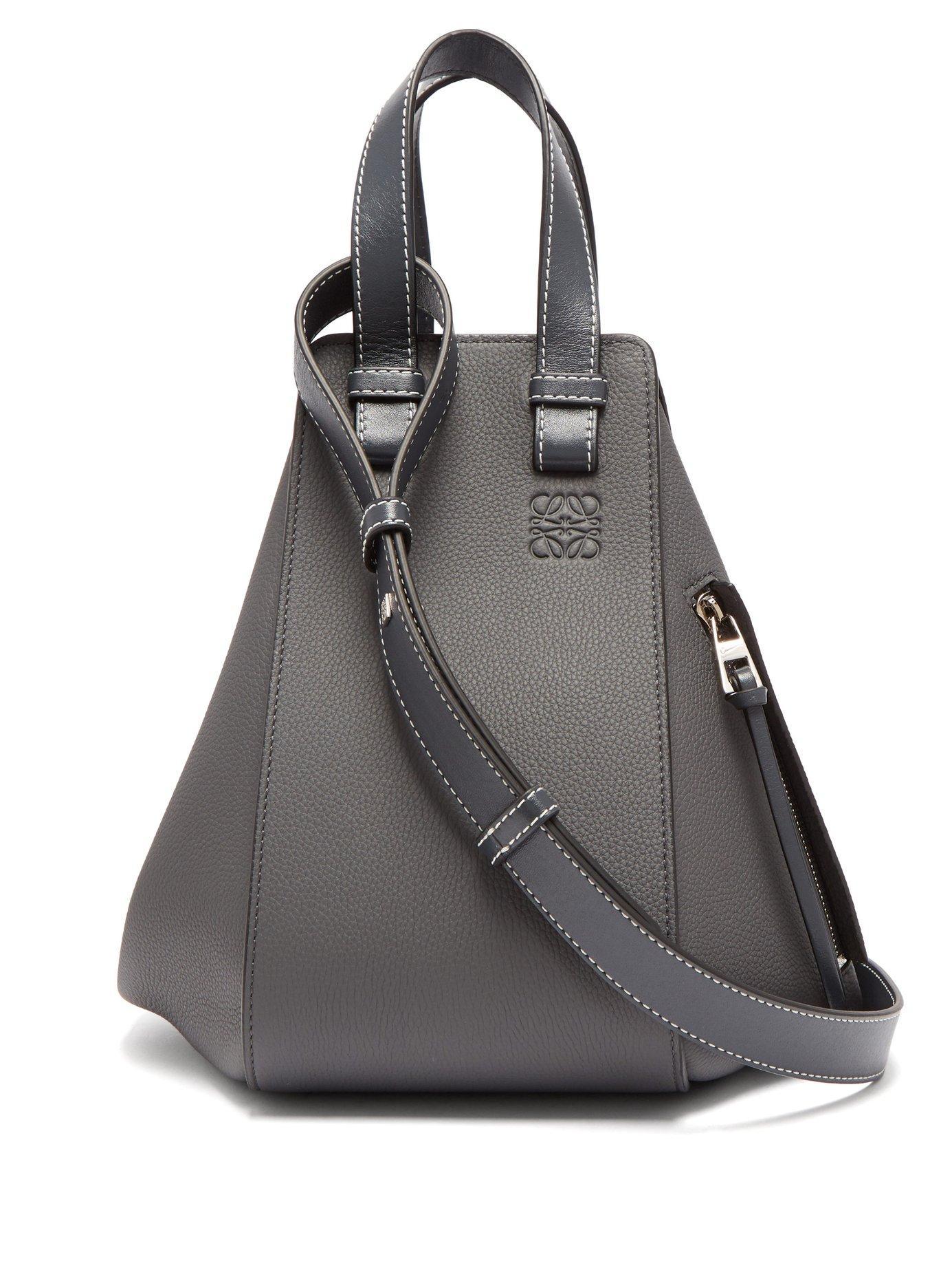 70754bea67 Loewe - Hammock Small Grained Leather Bag - Womens - Dark Grey ...
