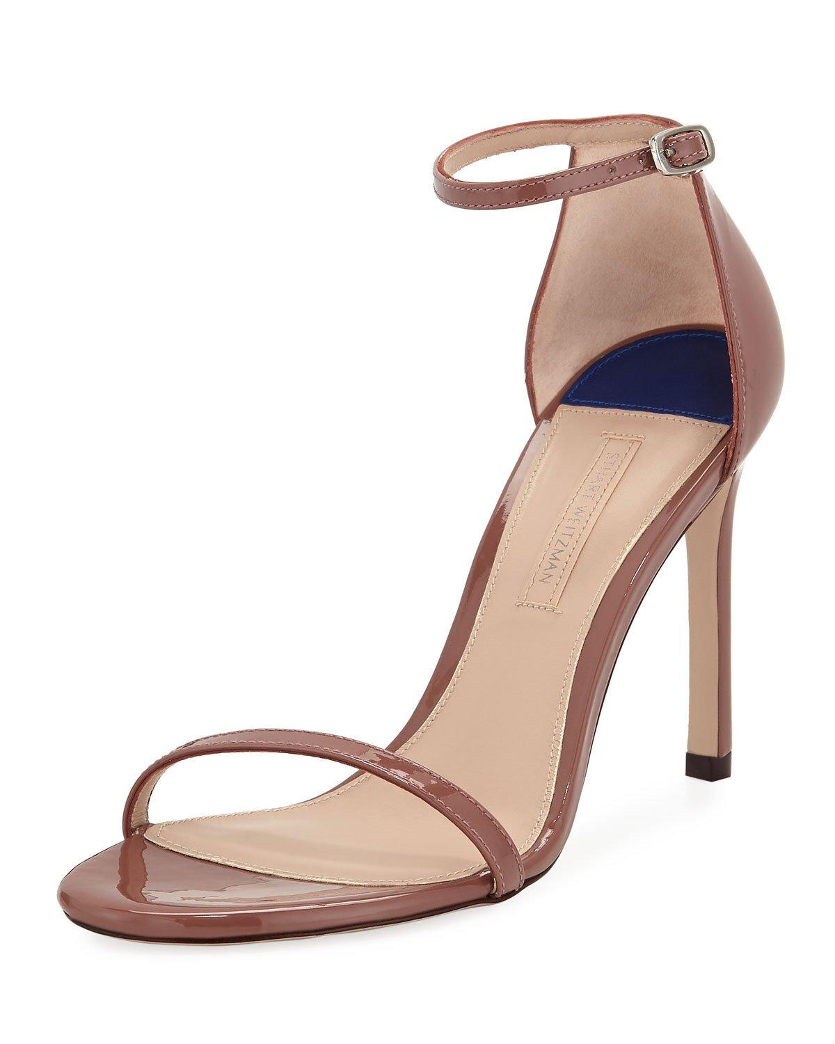 43d2d28bb8c7 Stuart Weitzman Nudistsong Patent Strappy Sandals In Rose Clay ...