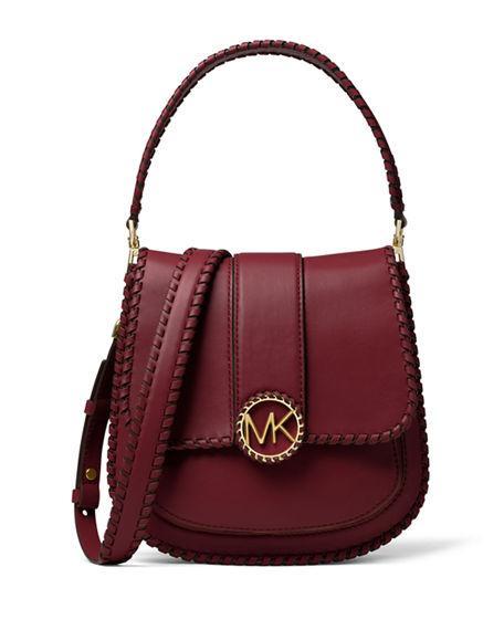 01db8da12f08 Michael Michael Kors Lillie Medium Leather Flap Crossbody Messenger Bag In  Oxblood