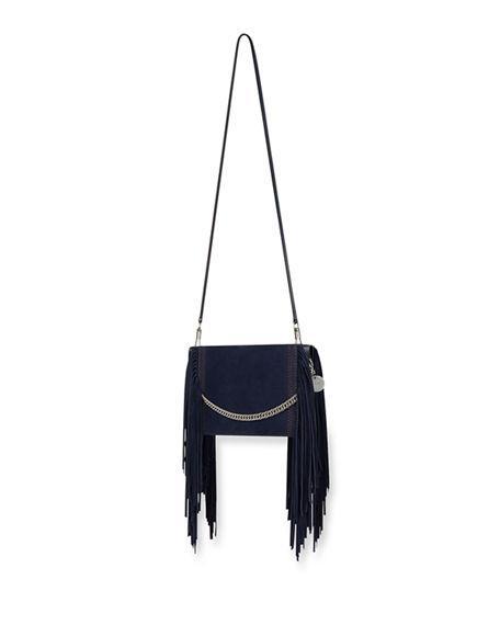 72a12d54bd Givenchy Cross 3 Fringe Leather Crossbody Bag - Blue In Dark Blue ...