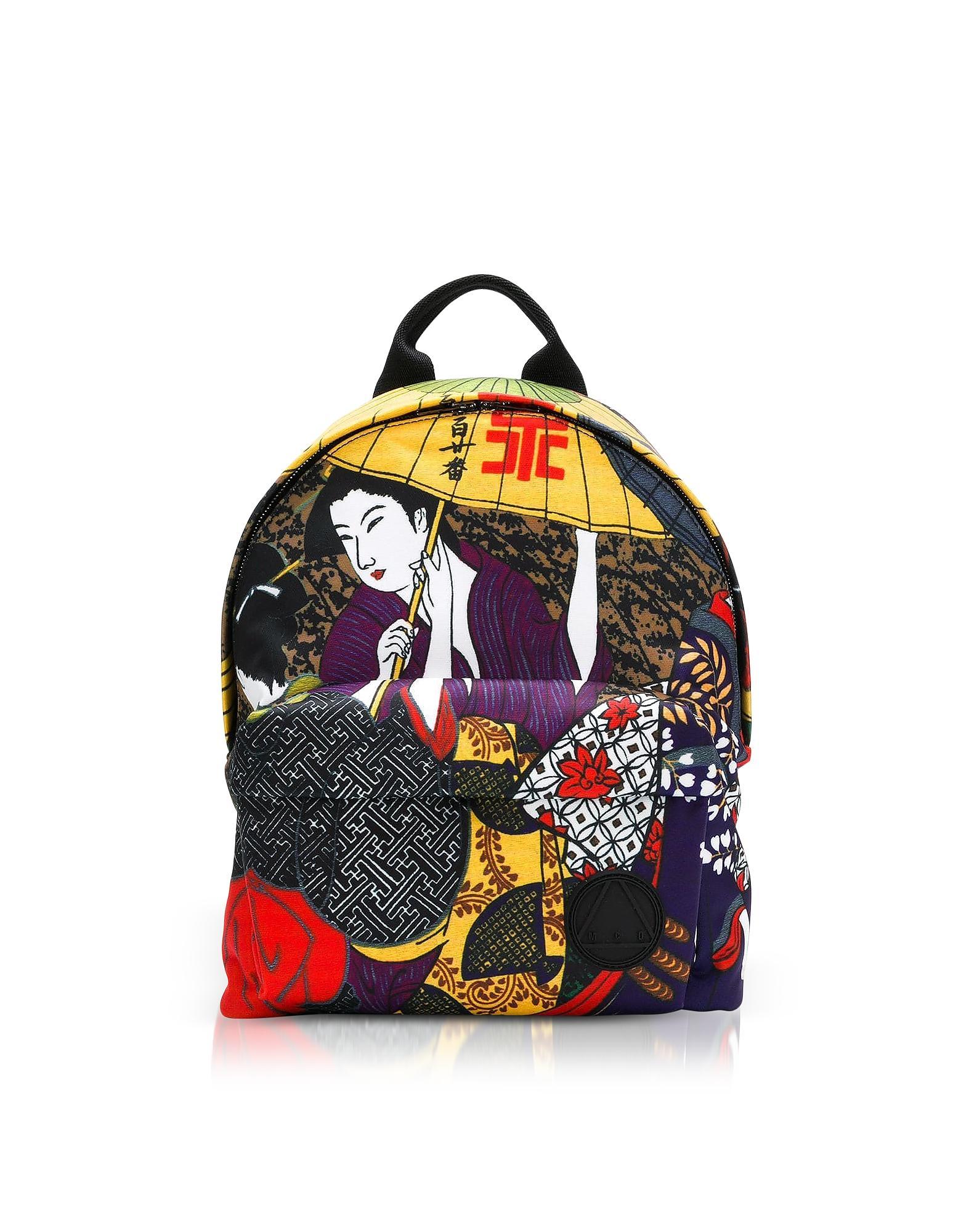 985048dc2f7 Mcq By Alexander Mcqueen Mcq Alexander Mcqueen Kimono Girl Nylon Backpack  In Multicolor. FORZIERI