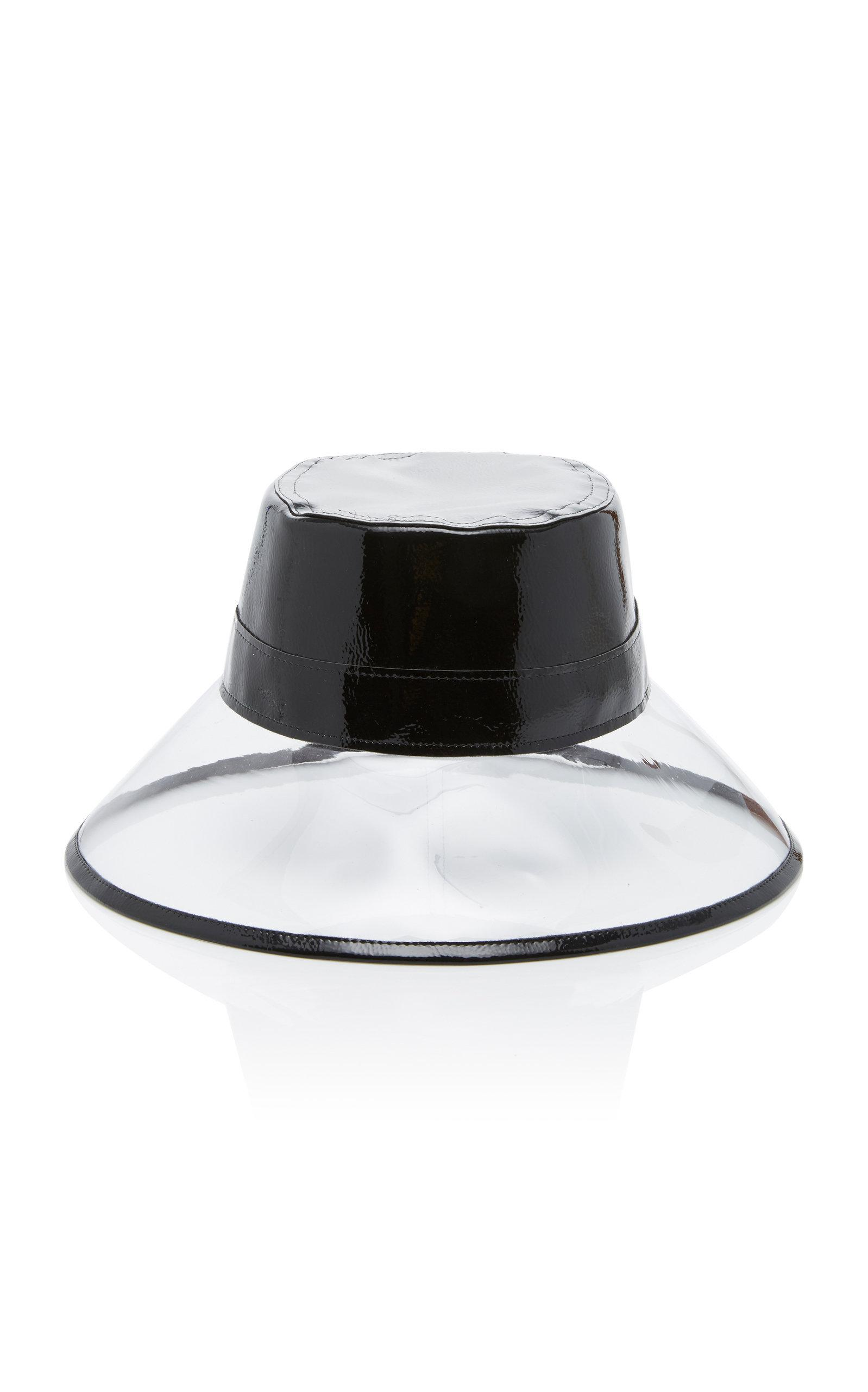 f67399896e76c Eric Javits Go-Go Patent Leather And Pvc Bucket Hat In Black