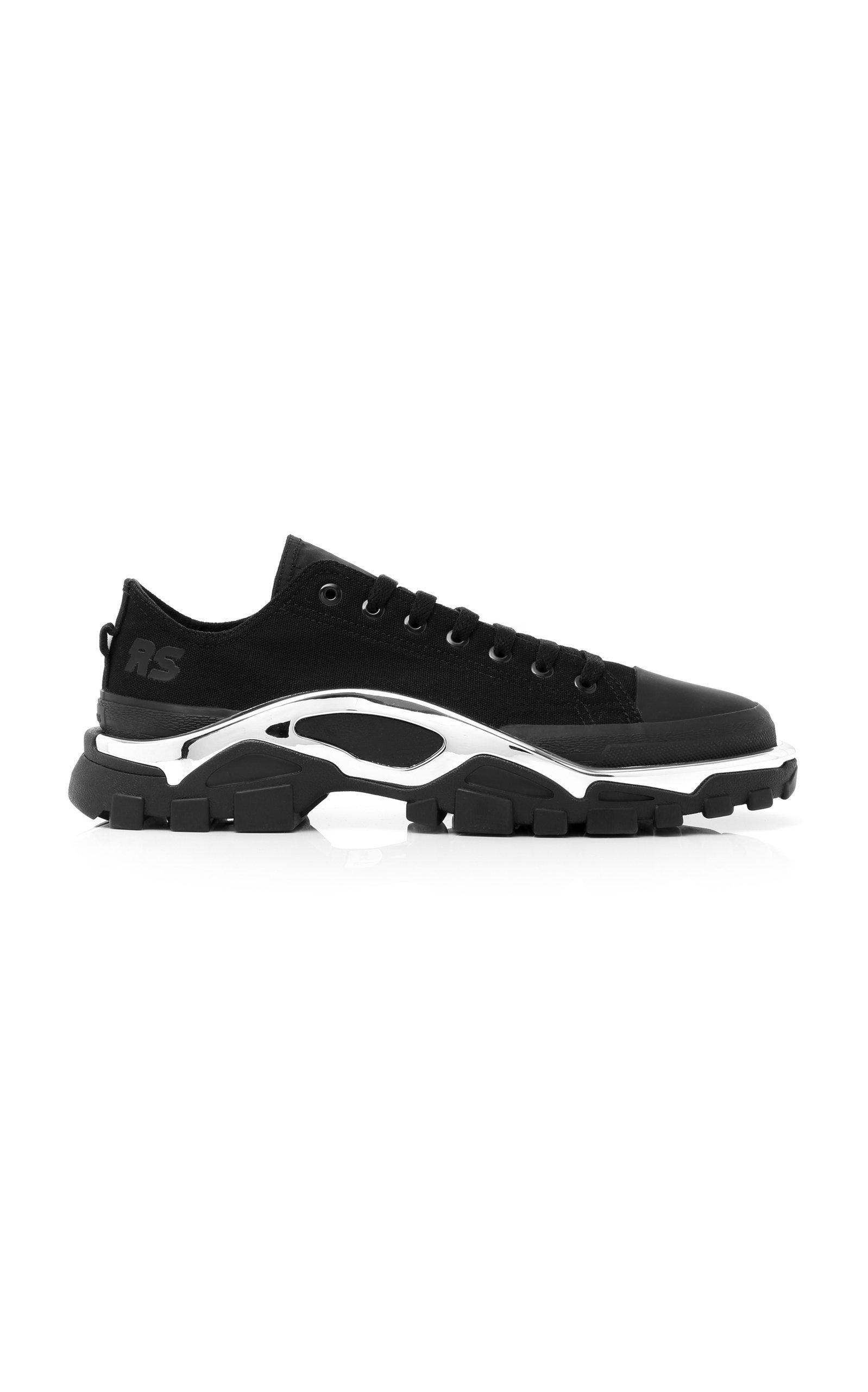 buy online 90ef7 b0e96 Adidas By Raf Simons Adidas X Raf Simons Detroit Runner Black Canvas  Trainers