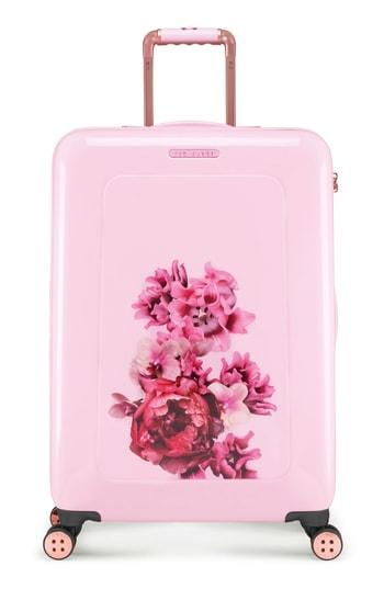 7bf25b54ad24 Ted Baker Medium Splendour Print 28-Inch Hard Shell Spinner Suitcase - Pink