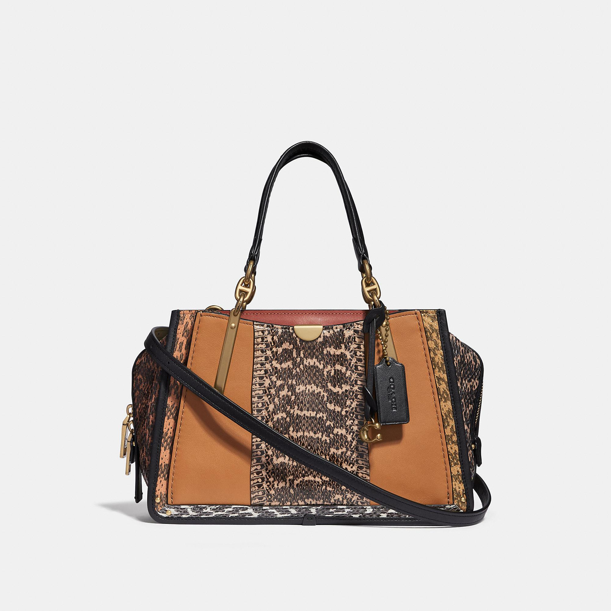 7434345e81d Coach Dreamer In Colorblock With Snakeskin Detail - Women's In Multi/Brass