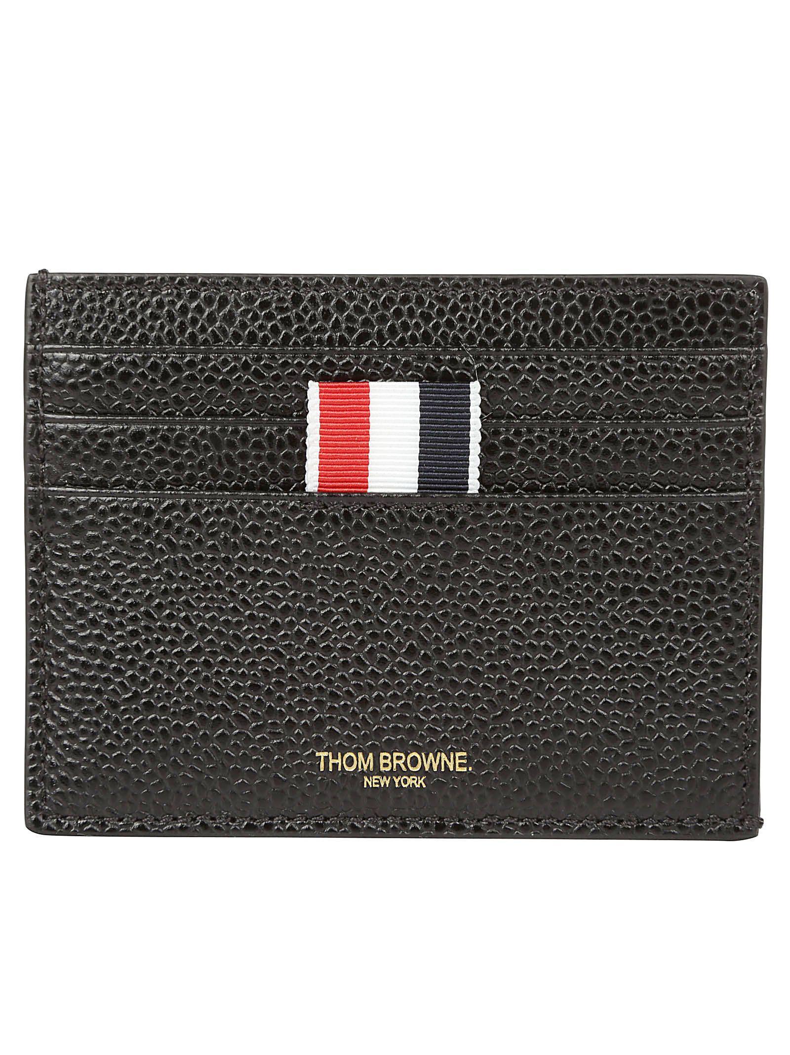 Thom Browne Card Holder Wallet In Black
