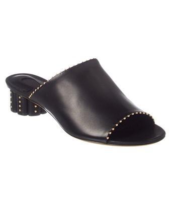Salvatore Ferragamo Rubiera Leather Sandal In Black