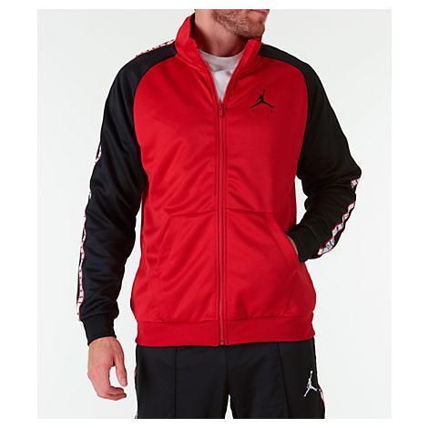 84da1eb7460 Nike Men's Jordan Sportswear Jumpman Taped Tricot Jacket, Black ...