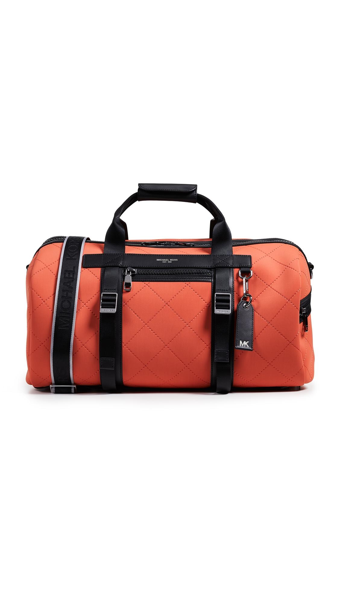 2e2adcd278ab Michael Kors Odin Neoprene Convertible Duffel Backpack In Bright Orange