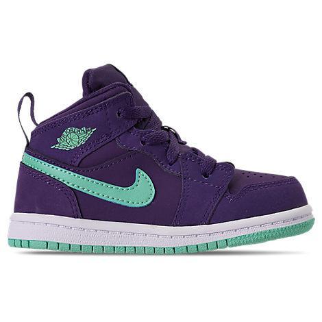 f067a6cd9b120f Nike Girls  Toddler Air Jordan 1 Mid Casual Shoes