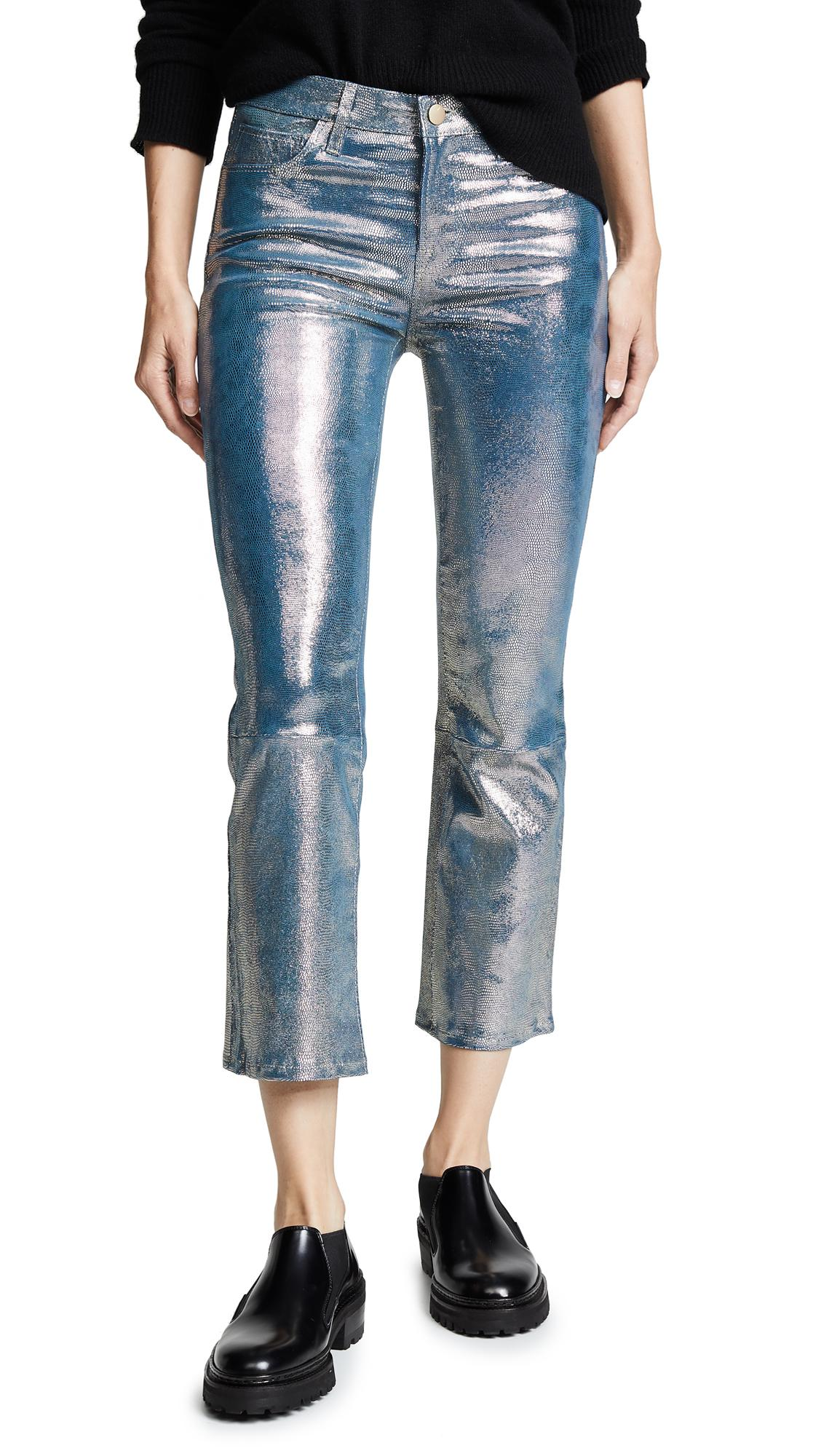 c4967c8ade4 J Brand Selena Crop Bootcut Leather Pants In Gold Snake | ModeSens