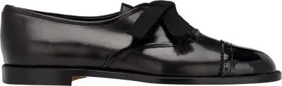 Manolo Blahnik Andare Oxfords In Black