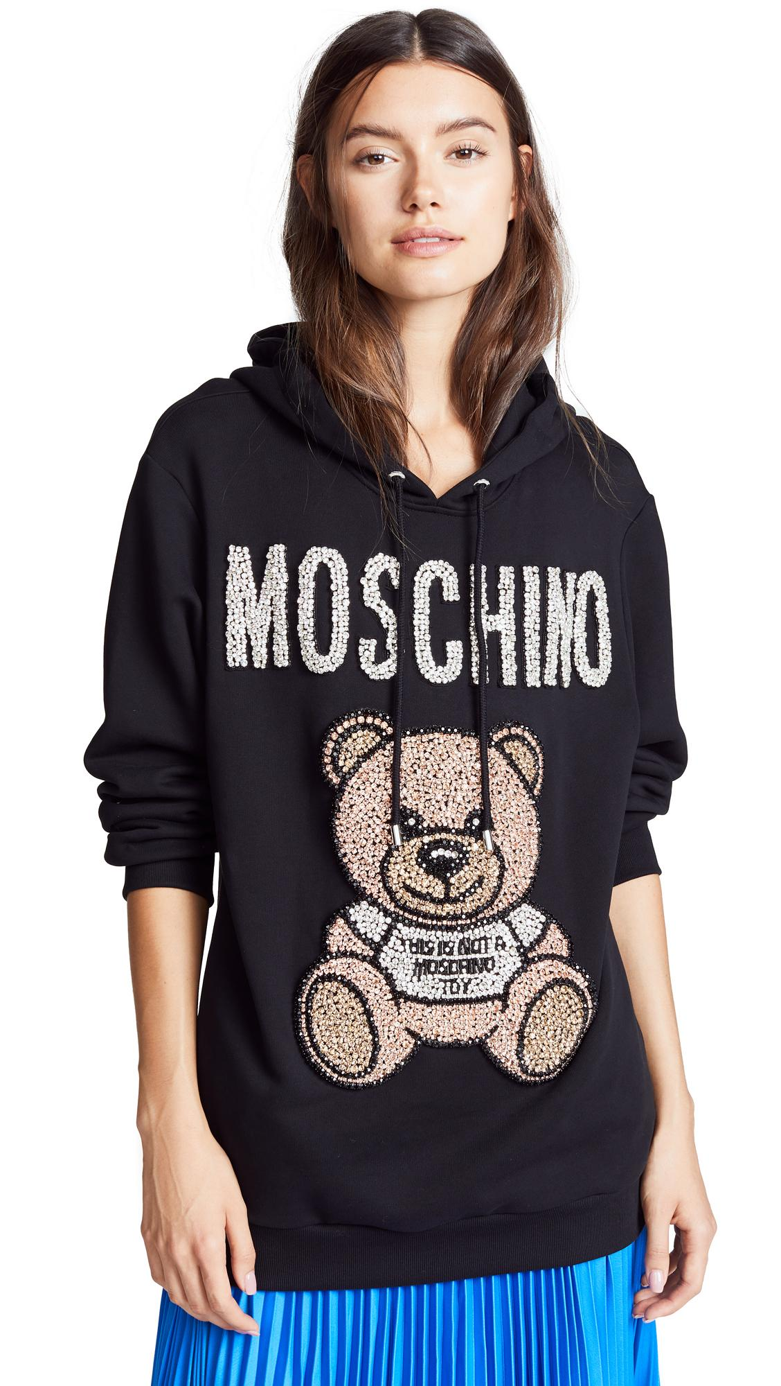 d35662b86 Moschino Ready To Bear Crystal Embellished Hoodie In Black   ModeSens