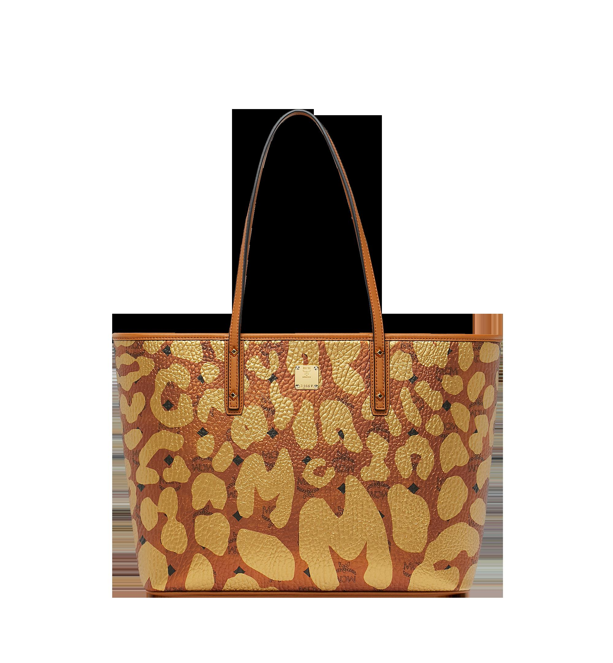 de7ea3b68c04 Mcm Anya Leopard Print Coated Canvas Tote - Brown   ModeSens