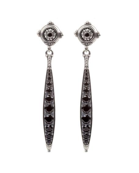 Konstantino Black Spinel Dangle Earrings