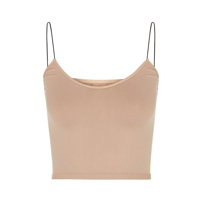 Free People Brami Almond Jersey Bra Top In Natural