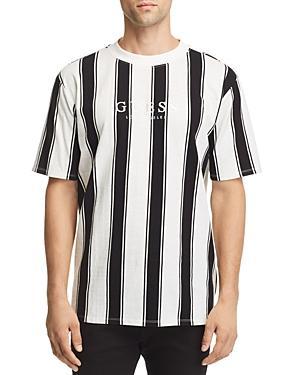 29bcc9f7d03f Guess Originals Men's Walden Stripe Logo T-Shirt In Walden Stripes Scuffy