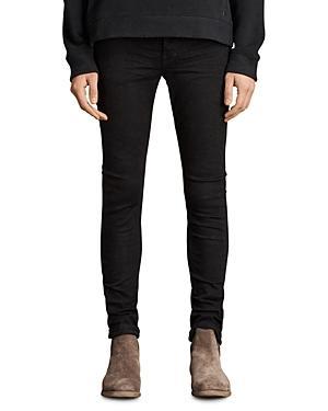 Allsaints Rex Slim Fit Stretch Straight Leg Jeans In Jet Black