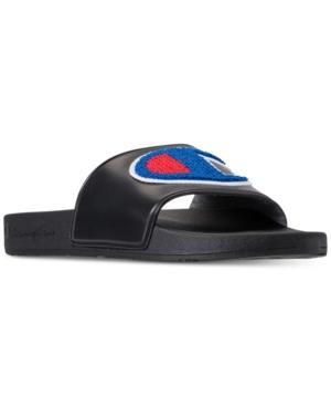 eaf8ef9cecaf5 Champion Men s Ipo Chenille Slide Sandals From Finish Line In Black ...