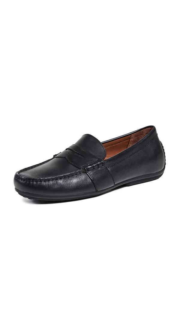 Polo Ralph Lauren Men's Reynolds Drivers Men's Shoes In Black Leather