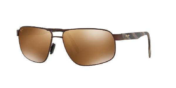 c08cee32b66 Maui Jim Polarized Sunglasses, 776 Whitehaven 63 In Brown Matte / Bronze  Polar