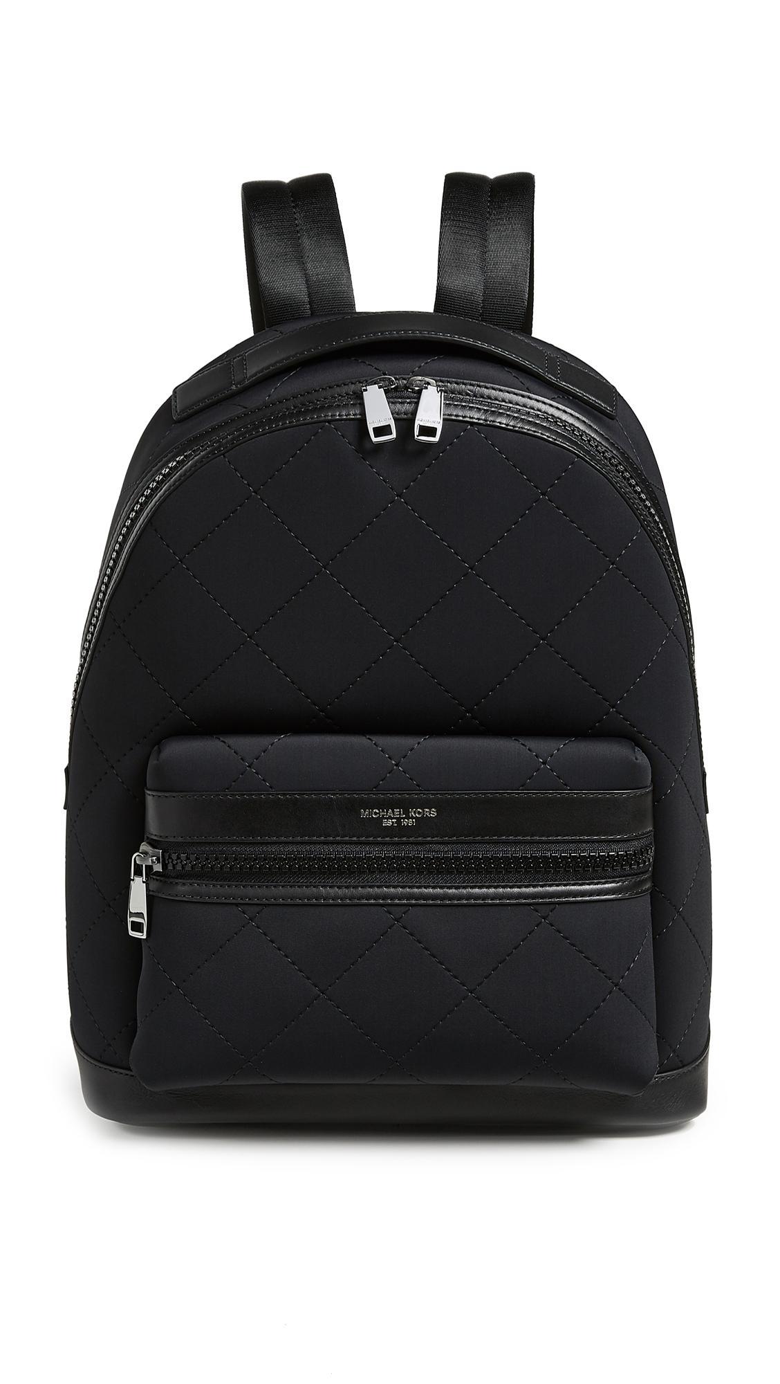 98d667174b43d6 Michael Kors Odin Neoprene Backpack In Black | ModeSens