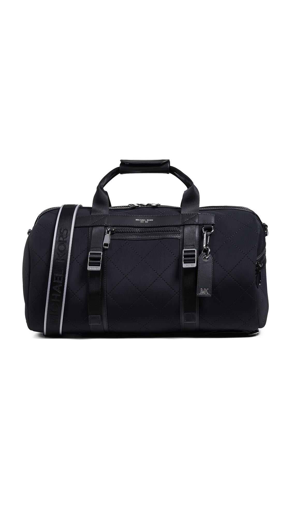 e82f12587042 Michael Kors Odin Neoprene Convertible Duffel Backpack In Black ...