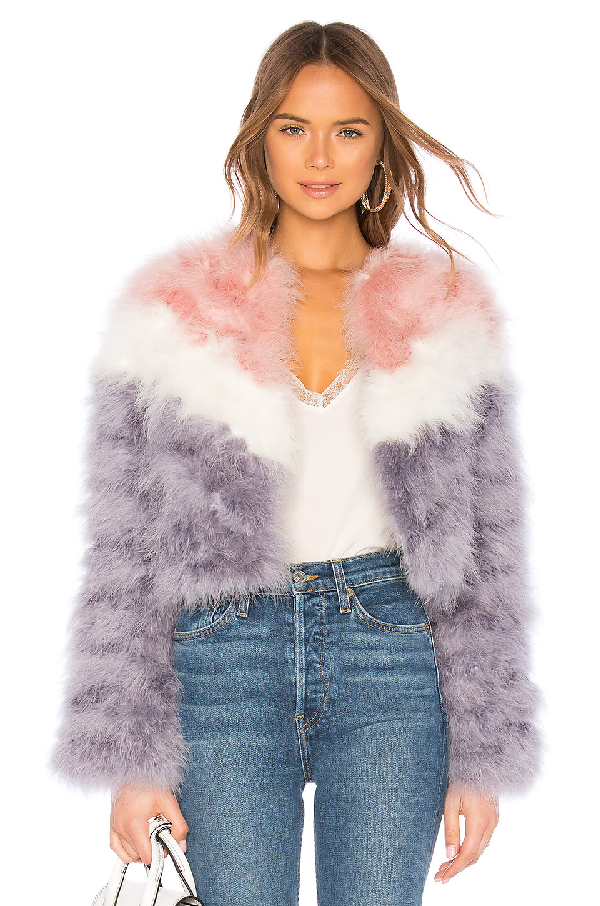 Rebecca Minkoff Pacha Feather Jacket In Pink