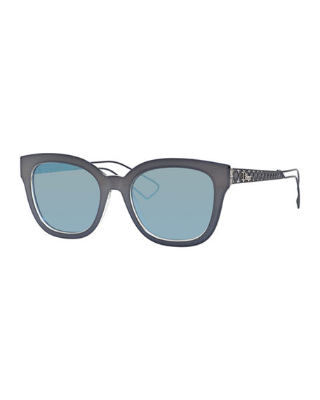 c20175ce6c8 Dior Ama Caged Mirrored Sunglasses In Gray