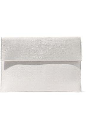 Marni Woman Textured-Leather Pouch Off-White