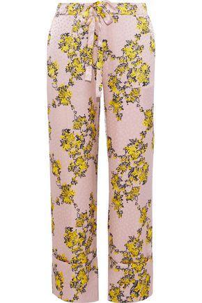 90955bfdb0f2 Baum Und Pferdgarten Woman Niral Floral-Print Hammered Silk-Jacquard Wide-Leg  Pants