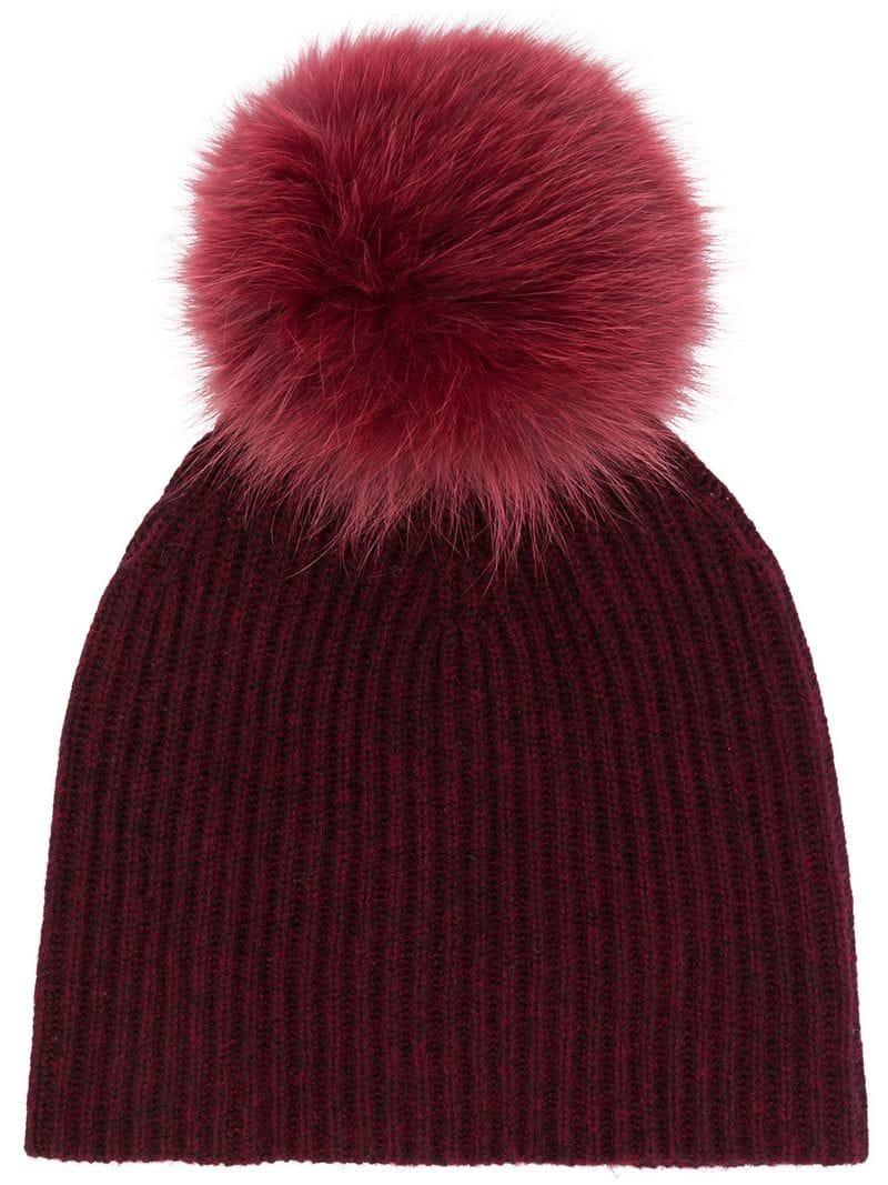 79596f45 Yves Salomon Accessories Ribbed Knit Beanie - Red | ModeSens